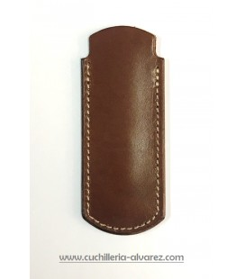 Funda de piel marron artesana JOSE CARBALLINO doble