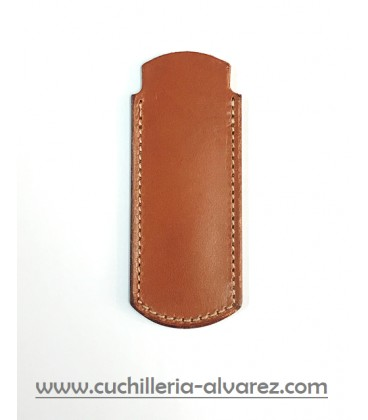 Funda de piel marron3 artesana JOSE CARBALLINO doble