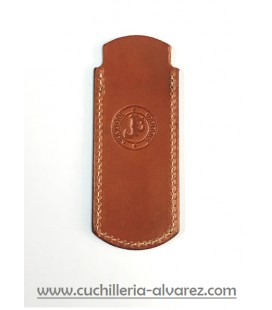 Funda de piel marron3 artesana JOSE CARBALLINO doble