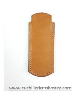Funda de piel mostaza artesana JOSE CARBALLINO doble