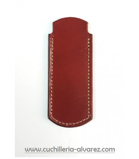 Funda de piel marron2 artesana JOSE CARBALLINO doble