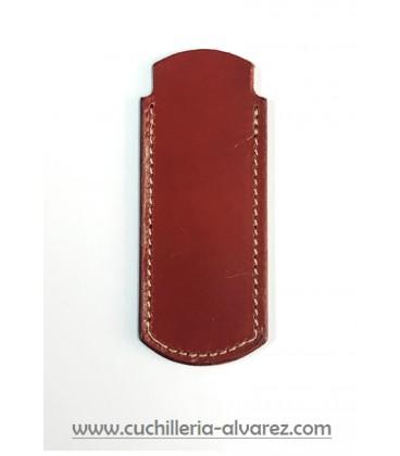 Funda de piel marron2 artesana JOSE CARBALLINO doble