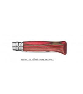 Opinel Nº 8 Abedul Laminado rojo
