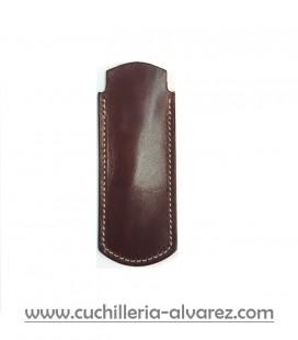 Funda de piel color vino artesana JOSE CARBALLIDO doble