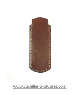 Funda de piel MARRON4 artesana JOSE CARBALLIDO doble