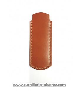 Funda de piel marron3 artesana JOSE CARBALLIDO doble