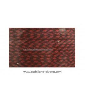 Paracord 550lb rojo y negro 1 Metro de 4 mm