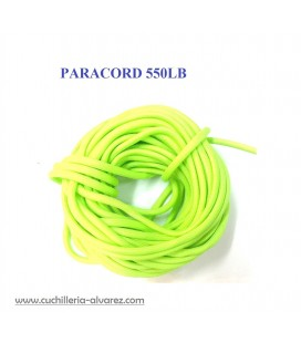 Paracord 550lb verde 1 Metro de 4 mm