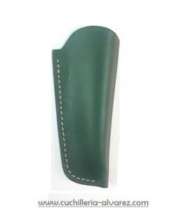 Funda de piel verde artesana JOSE CARBALLIDO