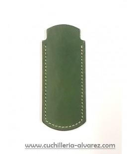 Funda de piel verde artesana JOSE CARBALLIDO doble