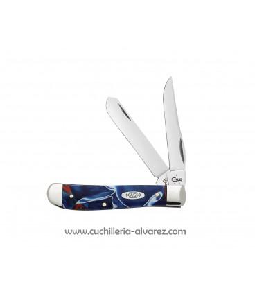 Navaja CASE Patriotic Kirinite® Mini Trapper CA11209