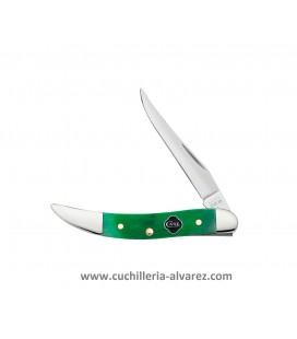 Navaja CASE TEXAS TOOTHPICK Clover Bone Sawcut Jig Small CA23216
