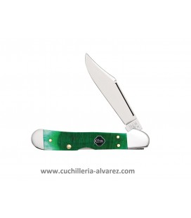 Navaja CASE MINI COPPERLOCK Clover Bone Sawcut Jig CA23217