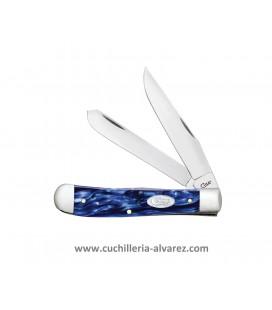 Navaja CASE TRAPPER Blue Pearl Kirinite CA23431