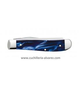 Navaja CASE MINI TRAPPER Blue Pearl Kirinite® CA23432