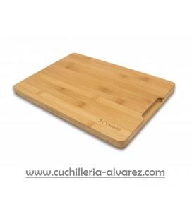 Tabla de corte 3 CLAVELES Bambú 33 x 23 x 2 cm