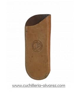 Funda de piel de ciervo FJCC3 MARRON artesana JOSE CARBALLIDO