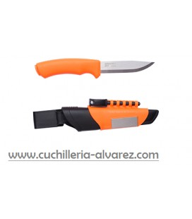 Cuchillo Mora BUSHCRAFT SURVIVAL naranja