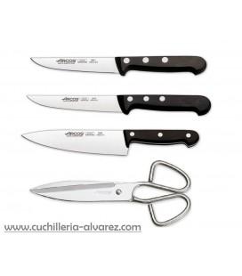 Pack cuchillos y tijera de cocina