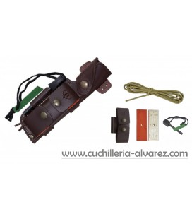 Cuchillo cudeman Bushcraft kit completo