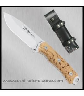 Cuchillo CHAMAN 140-A en abedul rizado