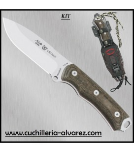 Cuchillo CHAMAN 140-KK Katex marron