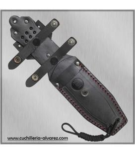 Cuchillo CHAMAN macro 141-M Mikarta negra