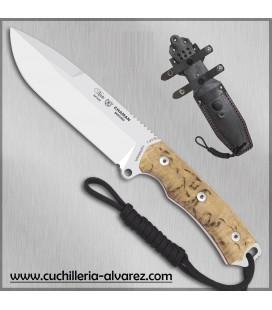 Cuchillo CHAMAN macro 141-A madera de abedul