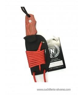 Cuchillo CHAMAN MICRA 136-GK micarta yute roja