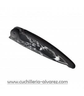 Navaja DEEJO BLACK 37g ebano/ciervo