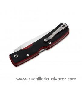 Navaja Manly PEAK black/red CPM-S90V 2 manos